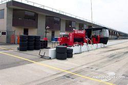 Essais de le garage Ganassi Racing