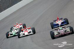 Tora Takagi leads a group of cars