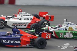 Alex Barron, Helio Castroneves et Tony Kanaan