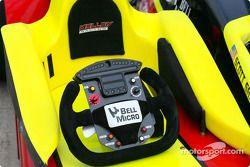 Kelley Racing car's steering wheel
