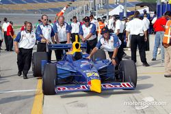 Cheever Racing car rolled into pitlane