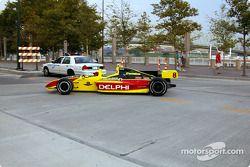 Kelley Racing 2-seater car on display