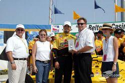 Race winner Sam Hornish Jr. receives Maurice Lacroix watch