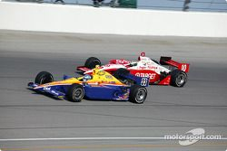 Sarah Fisher et Tomas Scheckter