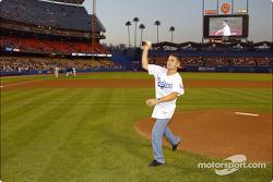 Baseball game at Dodgers Stadium: Gil de Ferran