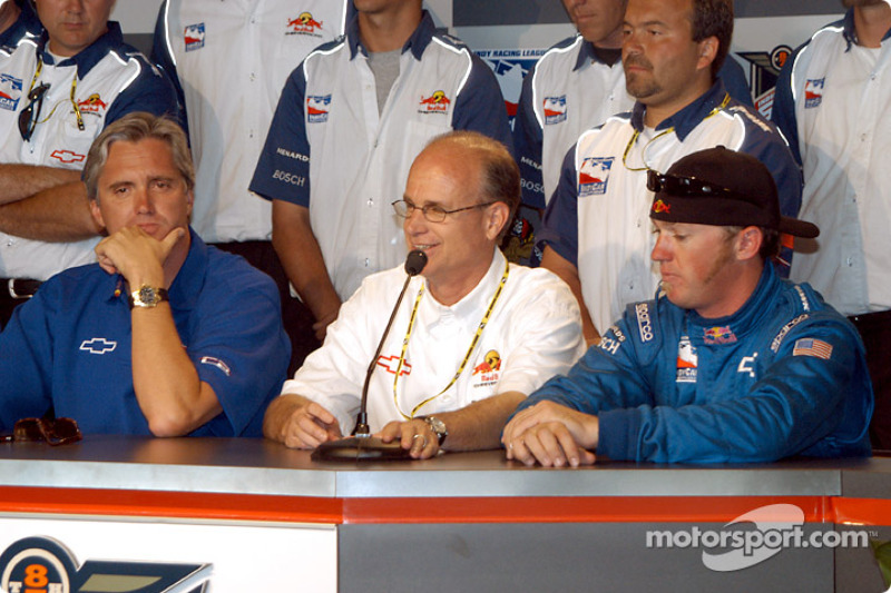 Pitstop competition press conference: Eddie Cheever, team manager Max Jones and Buddy Rice