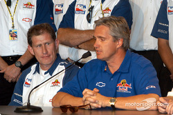 Pitstop competition press conference: chief Mechanic David Meehan and Eddie Cheever