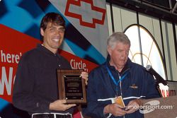 American Auto Racing Writer and Broadcasters Association, Annual Indianapolis 500 Breakfast and Journalism Awards: John Paul Jr. and Dick Mittman receive the Angelo Angelopolous Award