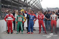 Drivers presentation: Helio Castroneves, Tony Kanaan, Robby Gordon, Scott Dixon and Dan Wheldon
