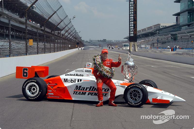 Gil de Ferran se impuso en las 500 Millas en 2003, en su única victoria allí
