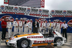 Drivers presentation: Lloyd Ruby, Jim McElreath, Parnelli Jones, Gordon Johncock, Johnny Rutherford, Bill Vukovich, Tom Sneva, Pancho Carter, Arie Luyendyk and Scott Goodyear