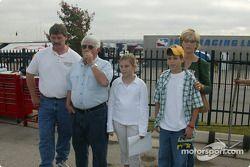 Gordon Johncock with his family