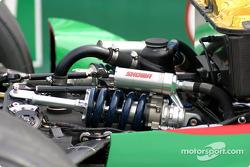 La suspension d'une voiture Andretti Green