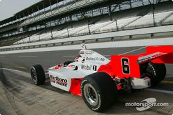 Sam Hornish Jr. heads out to the track as a member of Marlboro Team Penske