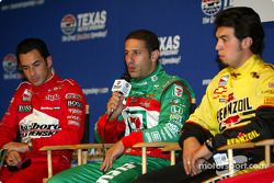 Press conference with IRL title contenders: Helio Castroneves, Tony Kanaan and Sam Hornish Jr.