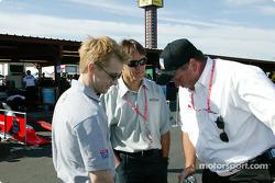 Kenny Brack, Adrian Fernandez and Brian Barnhart