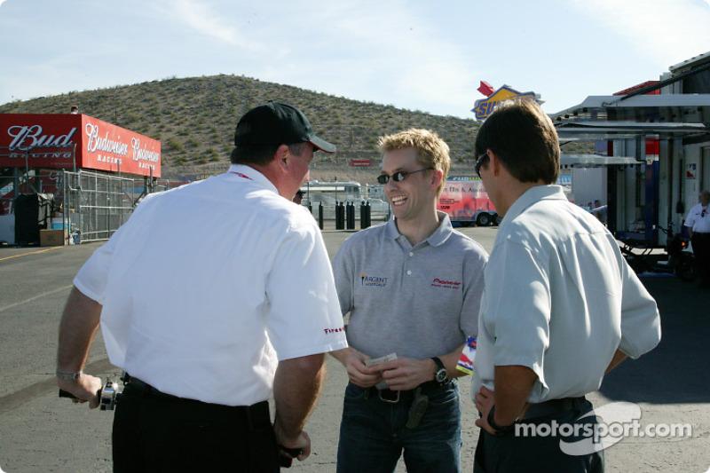 Kenny Brack, Adrián Fernández y Brian Barnhart