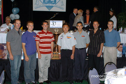The 2004 Indianapolis 500 rookie class at the American Dairy Association of Indiana's Fastest Rookie of the Year Luncheon