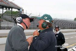 Brian Barnhart and A.J. Foyt Jr.
