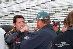 Larry Foyt discusses handling with his father A.J. Foyt Jr.