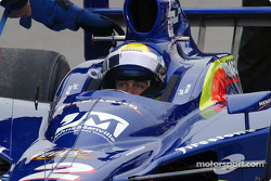 Mark Taylor reacts to spining on pit lane