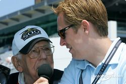 Legendary IMS announcer Tom Carnegie interviews Robby McGehee