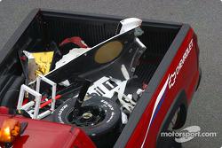 Parts from Sam Honrish Jr.'s car