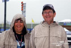 Rain gear was essential on Friday