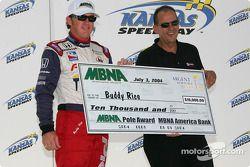 Buddy Rice accepts MBNA pole check