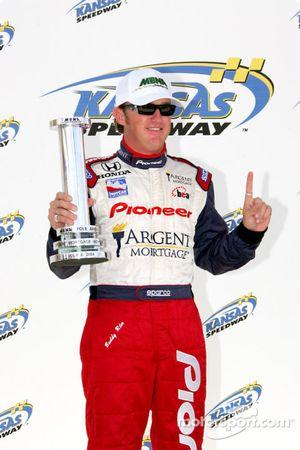 Buddy Rice with MBNA pole award