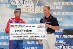 Dario Franchitti receives an award