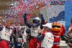 Victory lane: Buddy Rice celebrates victory