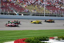 Scott Dixon, Adrián Fernández, Tomas Scheckter y Bryan Herta