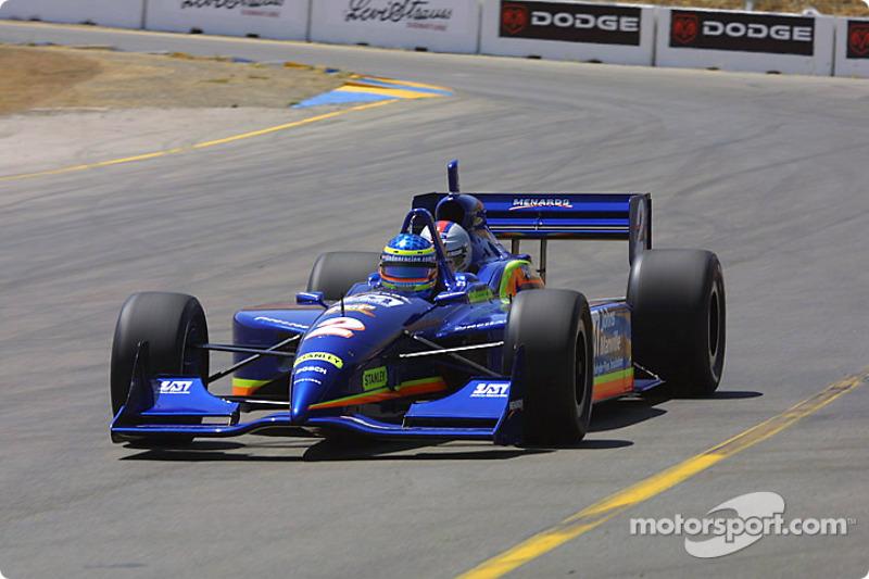 Davey Hamilton pilote la bi-place de l'IRL sur l'Infineon Raceway