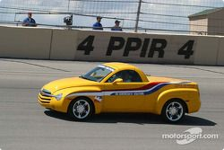 Johnny Rutherford in the IRL Pace Car