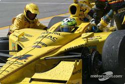 Arrêt aux stands pour Tomas Scheckter