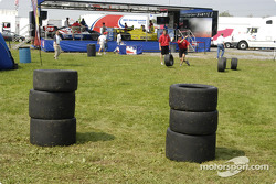 Firestone Tire boys play a game