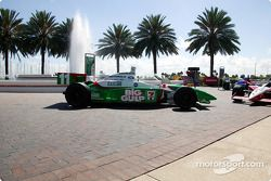 IRL cars on display in St. Petersburg