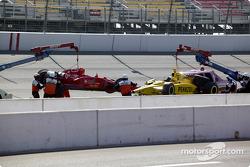 L'équipe de sécurité de l'IRL nettoie la piste