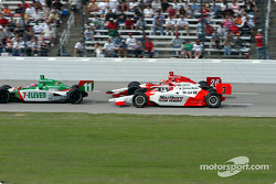 Tony Kanaan, Helio Castroneves and Dan Wheldon