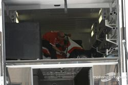Paddock activity after the race