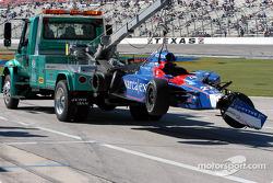 Wrecked car of Dario Franchitti