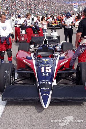 Car of Buddy Rice on the starting grid