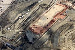 Aerial photos of construction progress