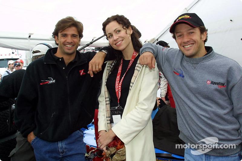 Christian Fittipaldi, l'actrice Minnie Driver et Cristiano da Matta