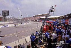 Une scène de course à Toronto en juillet 2000