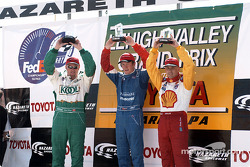 Le podium : Paul Tracy, Scott Dixon et Kenny Brack
