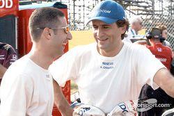 Tony Kanaan y Alex Zanardi
