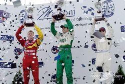 Le podium: Memo Gidley, Dario Franchitti et Bryan Herta