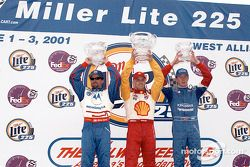 The podium: Michael Andretti, Kenny Brack and Scott Dixon